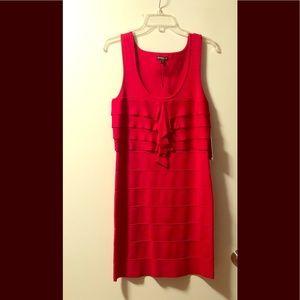 Red Express bandage dress
